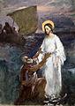 Eero Järnefelt Kristus käy vetten pääällä luonnos 1891.jpg