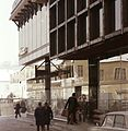 Eger, Sándor Imre utca, Mágnes Áruház, homlokzaton a Tábornok-ház tükörképe. Fortepan 21924.jpg