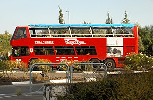 Transport in Jerusalem - Route 99 tourist bus