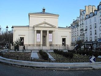 Batignolles - The Church of Sainte-Marie des Batignolles in the center of Batignolles