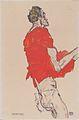 Egon Schiele - Stehender Mann (Selbstdarstellung in rotem Hemd) - 1913.jpeg