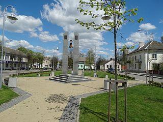 Eišiškės City in Dzūkija, Lithuania