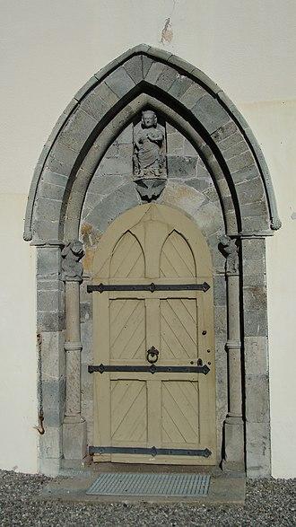 Eidsberg Church - Image: Eidsberg kirke (portalen)
