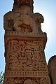 Elephants and Uruvela Village - North Face - South Pillar - East Gateway - Stupa 1 - Sanchi Hill 2013-02-21 4444.JPG