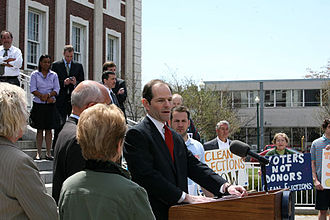 Eliot Spitzer - Spitzer speaking in April 2007