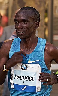 Eliud Kipchoge Kenyan long-distance runner