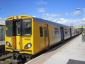 Merseytravel - Merseyrail 508126 at Ellesmere Port station in June 2012