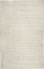 First page of The Emancipation Proclamation.
