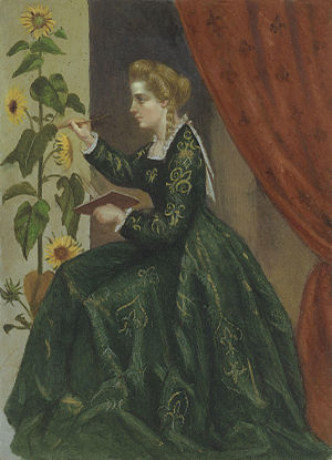 Emilia Dilke - Portrait of Emilia Dilke by Laura Capel Lofft (afterwards Lady Trevelyan), circa 1864.
