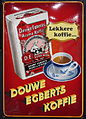 Enamel advertising sign, douwe Egberts Koffie, Langcat Bussum.JPG