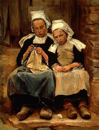 Enella Benedict - Enella Benedict, Brittany Children, 1892, exhibited in the 1893 Columbian World's Exposition, National Museum of Women in the Arts