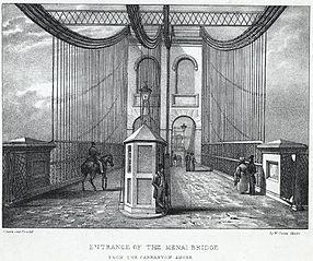 Entrance of the Menai Bridge: from the Carnarvon shore