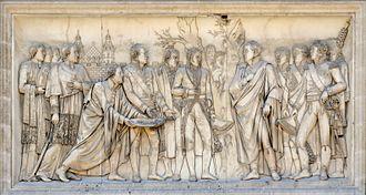 Louis-Pierre Deseine - Entry to Vienna, bas-relief at the Arc de Triomphe du Carrousel, Paris