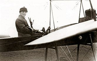 Eric Gordon England - Eric Cecil Gordon England in his Hanriot monoplane Henrietta