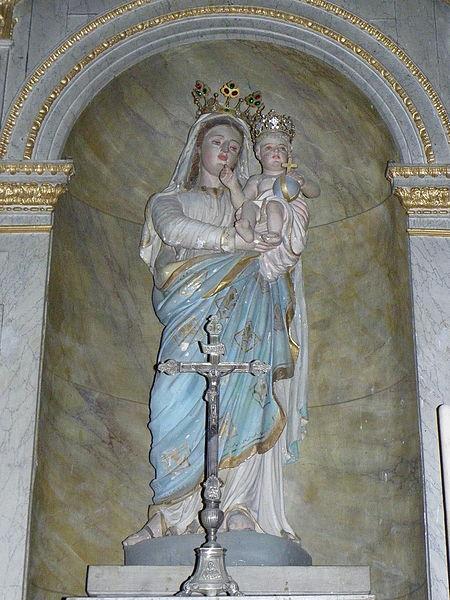 Église Notre-Dame-de-l'Assomption d'Ernée (53). Vierge à l'Enfant.