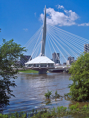 Esplanade Riel - Esplanade Riel pedestrian bridge