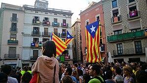 2017 Spanish constitutional crisis - Demonstration in Manresa on 3 October 2017.