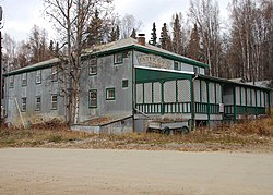One of the old mining camp buildings