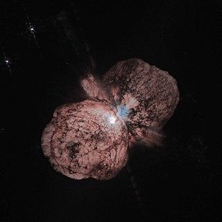 Eta Carinae stellar system in the constellation Carina