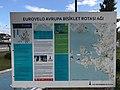 EuroVelo 8 sign in Bayraklı, İzmir.jpg