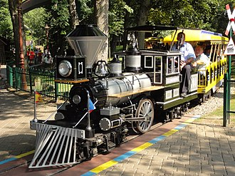 C. P. Huntington - A Chance Rides C. P. Huntington train operating on the Panoramabahn at Europa-Park