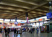 The concourse of the present-day Euston Station