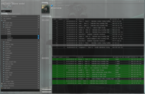 An example of EVE Online's in-game market screen.