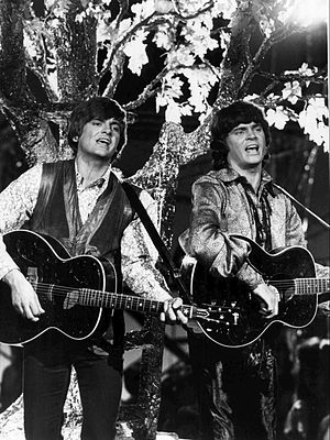 The Everly Brothers - Phil (left) and Don (right) Everly performing on the 1970 Johnny Cash summer replacement show