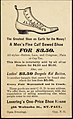 Every man rides his own hobby - Presidential ram. Our hobby is fine hand sewed shoes, Lovering's one-price shoe house 02.jpg