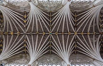 Exeter Cathedral - Detail of the vaulted ceiling
