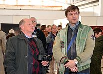 Exhibition LABIRINT II in Palace of Art 14.04.2015 Barhatkov Radaev.JPG