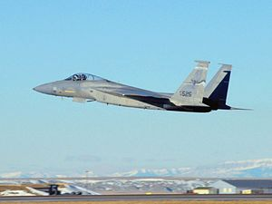 F-15C Montana ANG taking off Great Falls 2009.jpg