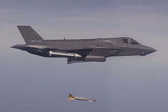 Paveway IV - A Paveway IV laser-guided bomb is released from an F-35 Lightning II during trials in the United States.