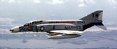 Photograph of a similar U.S. Marine Corps F-4B Phantom II.