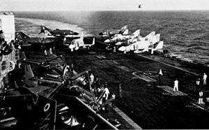 F-4Js VF-33 and VF-102 on HMS Ark Royal (R09) 1971.jpg