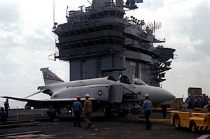 F-4N used for fire-fighting on USS Roosevelt (CVN-71) 1987.JPEG