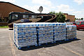 FEMA - 35761 - Water stacked in front of a mobile DRC in Iowa.jpg
