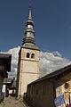 Face ouest du clocher de l'église Saint-Jacques d'Assyrie (Hauteluce, Savoie, France).jpg