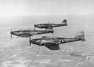 Fairey Battle - RAF No. 218 Squadron Fairey Battles over France, circa 1940