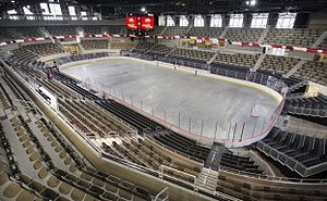 Indiana Farmers Coliseum - The interior of Fairgrounds Coliseum after the most recent renovation