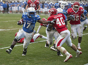 Air Force Falcons football - Running back Asher Clark and the Falcons take on the Houston Cougars during the 2009 Armed Forces Bowl