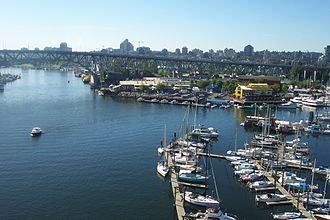 Granville Street Bridge - Image: False Creek and Granville Island Vancouver