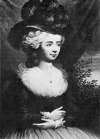 Frances Burney - Print of 1782
