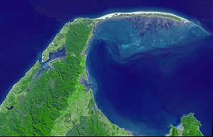 Spit (landform) - Farewell Spit, on New Zealand's South Island