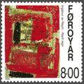 Faroe stamp 356 ingalvur av reyni - red rain.jpg