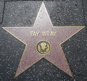 English: Fay Wray's star on the Hollywood Walk...