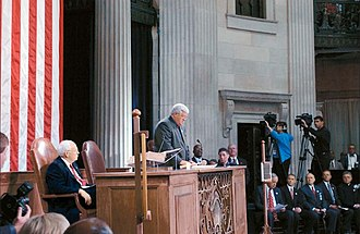 Federal Hall - Congress convenes for a special session at Federal Hall National Memorial on September 6, 2002