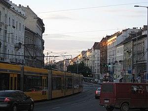 Ferencváros - Ferenc körút on a Saturday evening.