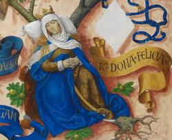 Felícia de Roucy, Rainha de Aragão -The Portuguese Genealogy (Genealogia dos Reis de Portugal).png