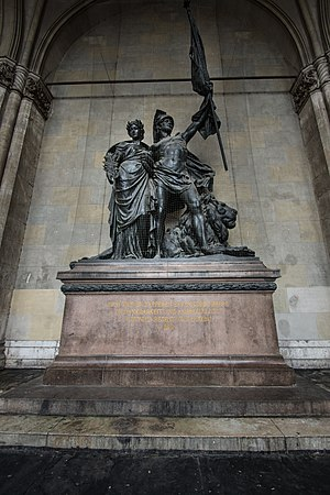 Feldherrnhalle - Statue commemorating the Franco-Prussian war inside the Feldherrnhalle